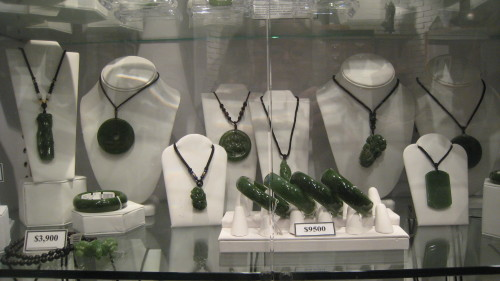 Heirloom jade jewelry at the Jade Mine store in Vancouver (Photo credit: MCArnott)