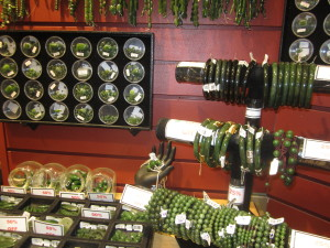 Affordable jade jewelry at the Jade Mine store in Vancouver (Photo credit: MCArnott)