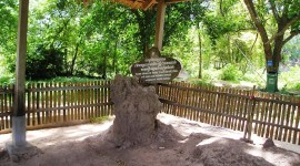 A mass grave in the Killing Fields, Cambodia