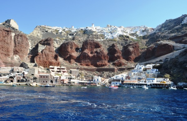 Oia seen from the Santorini Caldera