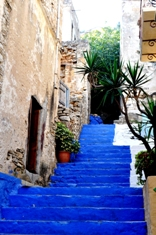 Paint colors on Symi flout the tradition.