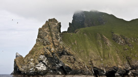 Steep headlands in Scotland's Outer Hebrides