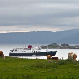 Hebridean Princess at anchor off the Isle of Iona