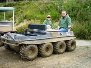 Ready to go with our Argo 8-wheel vehicle (Credit: DVWard)