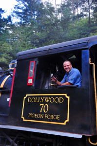 Two steam locomotives pull the Dollywood Express on excursions through the park. (photo credit: Katherine Rodeghier c 2013)
