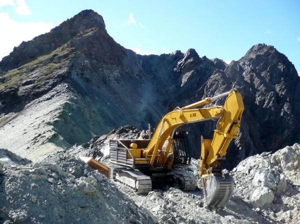 Heavy equipment bites into the mountain (Courtesy: The Jade Mine)