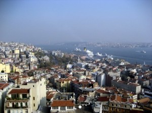 Looking down from Galata Tower