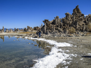 Photographing tufa towers at Mono Lake.