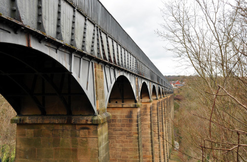 The cast iron and masonry work on the Pontcysyllte Aqueduct in Wales are more than 200 years old. (photo credit: Katherine Rodeghier c 2013)