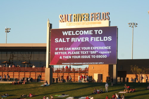 Salt River Fields Located in Scottsdale Arizona