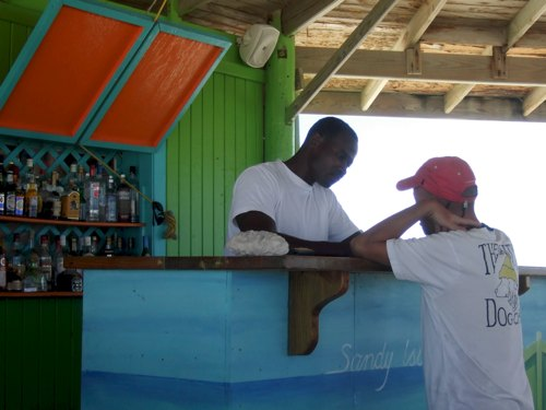 Decisions, decisions: will it be rum punch or an Island Breeze at the Sandy Island restaurant off Anguilla? Photo by Laura Byrne Paquet.