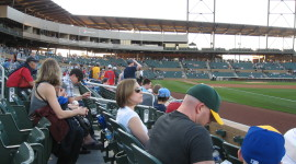 Baseball Fans Wait for the Game to Start Under a Typical Arizona Sky (Photo credit: Chris Eirschele, c 2013)