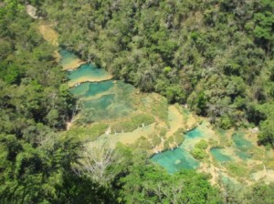 The Pools of Semuc Champey from El Mirador