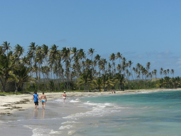 The beach at Coconut Bay is big enough for family travelers and romantic couples to share.