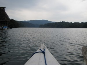 View from a Kayak on the Rio Dulce
