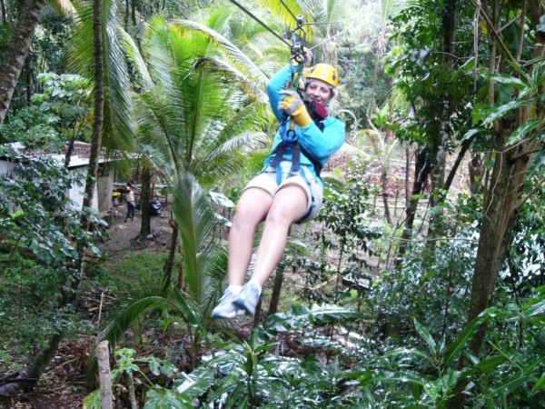 Ziplining is one of the off-site activities offered at an extra cost.