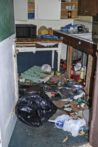 An example of the damage a bear can cause inside someone's home. Photo courtesy of Steve Searles.