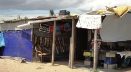 Shacks built by residents of Langa (Photo credit and copyright Ann Burnett 2013)