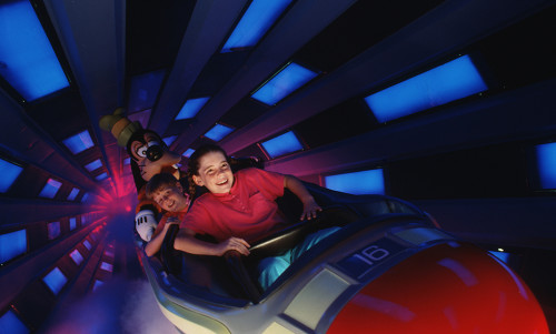 Zooming into Space Mountain (courtesy Walt Disney World)