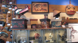 Artwork of B.C. Northwest coast at the Spirit Gallery in Horseshoe Bay (Photo credit: MCArnott)