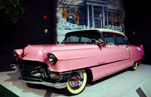 Elvis' famous pink Cadillac is a highlight of the Elvis Presley Car Museum, part of the Graceland tour package. (photo credit: Katherine Rodeghier c 2013)