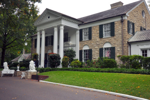 Graceland was built four years after Elvis was born. He bought it when he was 22. (photo credit: Katherine Rodeghier c 2013)