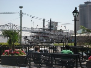 The Steamboat Natchez from Jackson Square