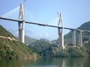 New bridges built to connect the new towns. (photo credit Ann Burnett 2013)