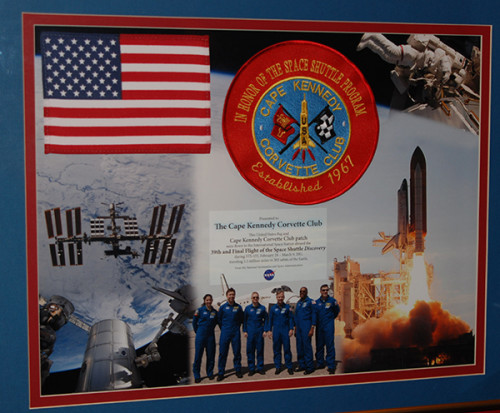 Corvette club patch flown on Space Shuttle Discovery
