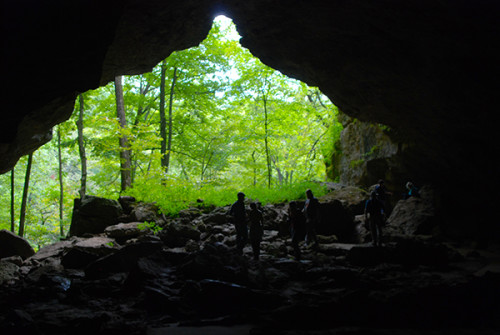 The wide mouth of Dance Hall Cave (Sandra Friend)