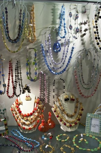 Murano glass necklaces (Photo copyright Stillman Rogers)