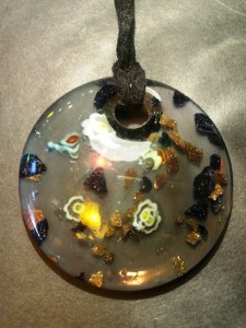 A glass pendant from Murano (Venice) can live in my box from Branson.