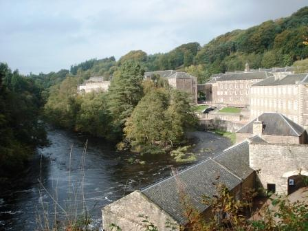 New Lanark sits on the banks of the River Clyde (Ann Burnett)