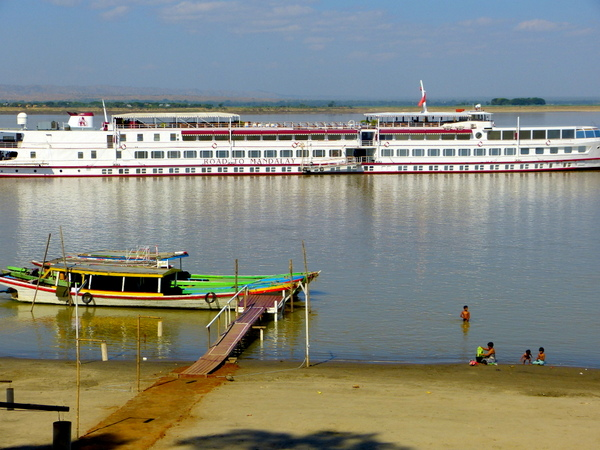 Riverboat Road to Mandalay awaits passengers at Bagan