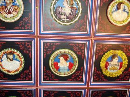 The Ceiling Rondels in the King's Lodgings (photo credit: Ann Burnett c2013)