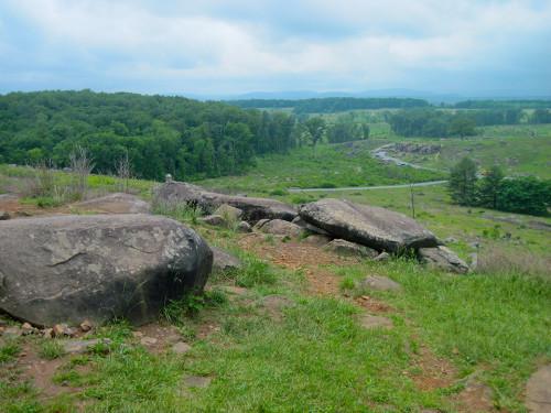 Little Round Top, on the Gettysburg Battlefield