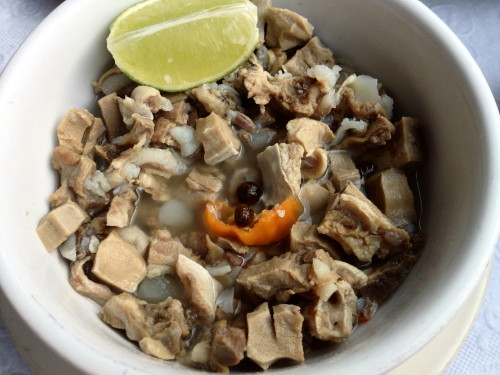 Sheep tongue souse - it's what's for breakfast in the Bahamas.