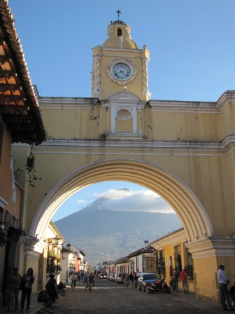 Through the Yellow Archway to Volcan Agua