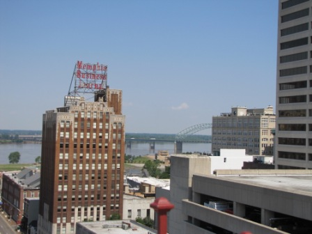 View of Mud Island from the Peabody Hotel