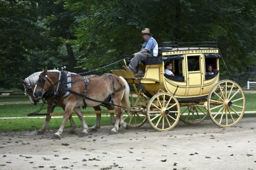 A genuine Concord Coach at Old Sturbridge Village (Photo copyright Stillman Rogers)