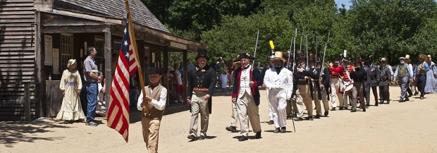 An Old Time Fourth of July Parade at Old Sturbridge Village (Photo copyright Stillman Rogers)