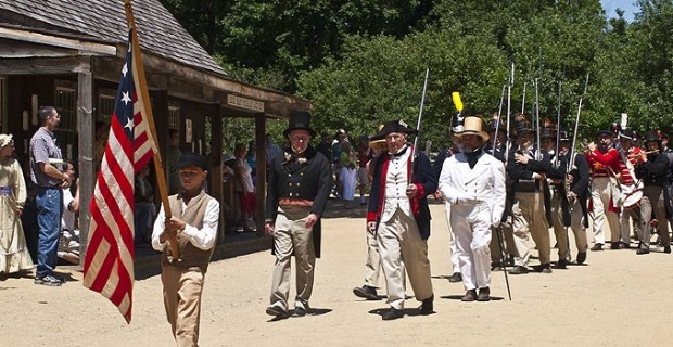An Old Time Fourth of July Parade in Old Sturbridge Village