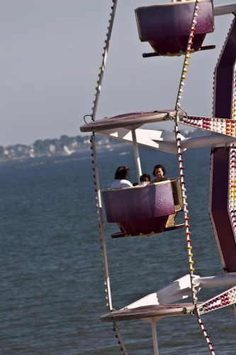 Over the Ocean on the Ferris Wheel, Orchard Beach Maine (photo credit Stillman Rogers)