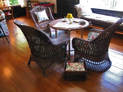 Tea Table in the Roosevelt Cottage, Campobello (Photo copyright Stillman Rogers)