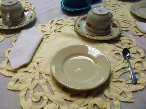 The table is set for Tea with Eleanor at Roosevelt Campobello International Park (Photo copyright Stillman Rogers)