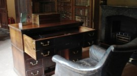 Sir Walter Scott's desk and chair at Abbotsford. (photo credit Ann Burnett c 2013)