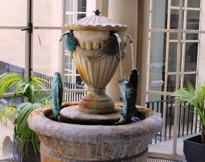 The fountain where the water flows
