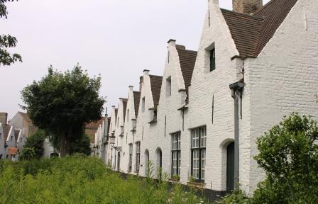 Many of Bruges' almshouses are still occupied