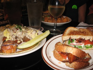 Traditional B-L-T Sandwich and Good Family Conversation is the Best Dining Experience (courtesy Chris Eirschele)