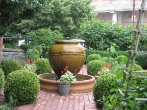 Fountain in a Kitchen Garden